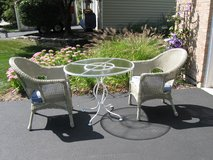 Cute Comfy (Resin Wicker and Iron) Bistro Set in Plainfield, Illinois