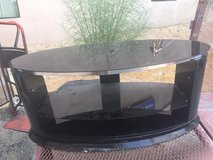 Black Glass Tv Stand- Holds up to 55 in 29 Palms, California