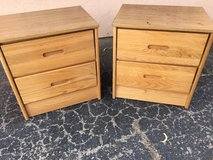Two Wooden Nightstands in 29 Palms, California