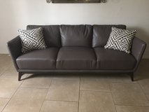 Leather couch in Yucca Valley, California