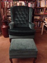 Classic comfortably designed arm chair with ottoman in 29 Palms, California