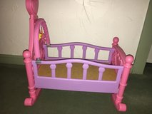 Pink Rocking Doll Crib - Nice in Westmont, Illinois