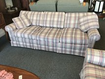 Plaid couch in Oswego, Illinois