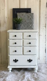 Shabby White End Table in Liberty, Texas