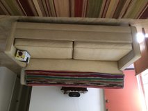 1970's vinyl fold out couch with special cover in Yucca Valley, California