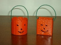 "2 sm. tin pumpkins 1-1/2"" in Glendale Heights, Illinois"