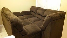 Brown sectional couch in Cherry Point, North Carolina