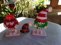 2 M & M Christmas candy holders in Naperville, Illinois