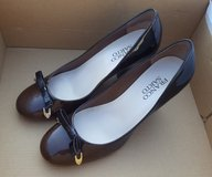 Franco Sarto Heels - Size 6 (Brown / Patten Leather Bowtie) in Schaumburg, Illinois
