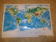 "Wall World Map Poster 32"" X 22"" NEW & FREE in St. Charles, Illinois"