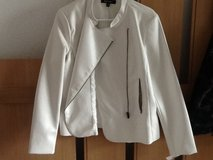 NWT White Faux Leather Jacket in Ramstein, Germany