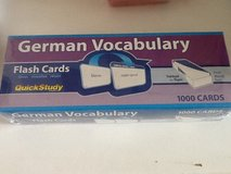 New German Vocab Flash Cards in Ramstein, Germany