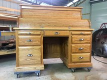 Brand New, Solid Oak Roll-Top Desk by Local Craftsman in Leesville, Louisiana