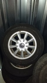 4 excellent Hyundai alloy rims incl. like new summer tires 205 65 R15 in Baumholder, GE