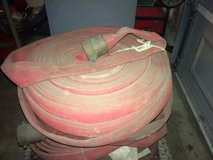 "5 rolls of 1 1/2"" x 50' and 2 rolls of 1 1/2""x 25' foot fire hose in Shorewood, Illinois"