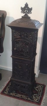 Original cast-iron antique art nouveau stove - circa 1890 in Ramstein, Germany