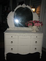 SO cute vintage shabby chic dresser and mirror in Westmont, Illinois