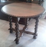 Antique French oval table with barley twisted legs - around 1890 in Ramstein, Germany