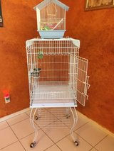Large bird cage w/ all accessories in The Woodlands, Texas
