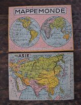 Colgate Promotional Puzzles World Maps Circa 1950s or Earlier in Ramstein, Germany