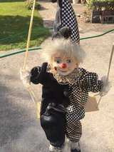 clown on swing in Fort Campbell, Kentucky