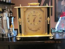 Mantel Clock Gold & Black Made By Beacon in Travis AFB, California
