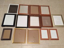 14 picture frames all for $8 in Eglin AFB, Florida