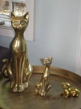 3 Solid Brass Cats in Travis AFB, California