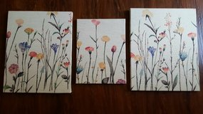 Canvas floral wall art in Naperville, Illinois