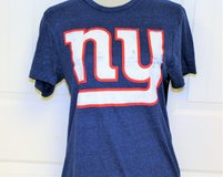 Women's Med NWT New York Giants Eli Manning Blue Fitted T Shirt Knit Top Tee Blue NY in Kingwood, Texas