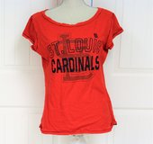 St Louis Cardinals MLB Baseball Bat Glove Large Women's Fitted T Shirt Knit Top in Houston, Texas