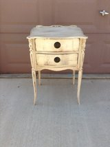 Shabby cottage painted end table in Las Vegas, Nevada