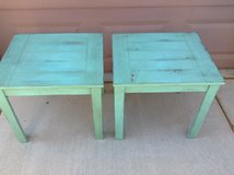 Two turquoise end tables in Las Vegas, Nevada