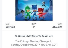 PJ MASKS LIVE! Chicago Theatre, 10/1 in Oswego, Illinois