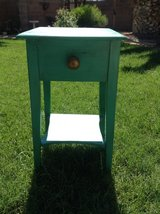 Shabby turquoise end table in Las Vegas, Nevada