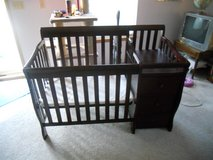 crib with changing table in Wheaton, Illinois