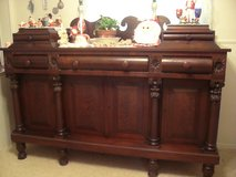 VICTORIAN EMPIRE MAHOGANY late 1800's Buffett in Tinker AFB, Oklahoma
