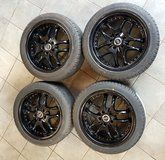 4 x TIRES ON ALLOY RIMS 225/45 R17 in Baumholder, GE