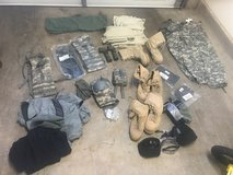 Knee pads, camel bags, goggles, WW trousers in Schofield Barracks, Hawaii