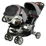 BabyTrend sit and stand double stroller with infant car seat and 2 car bases in Okinawa, Japan