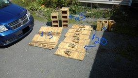 wooden ammo crates in Fort Drum, New York