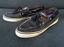Sperry top-sider black sparkle slip on shoes size 8.5M in Westmont, Illinois