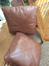 Brown leather pillows in Spring, Texas
