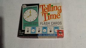 Vintage - 1963 - Telling Time Cards in Glendale Heights, Illinois