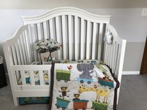 Lambs and Ivy Choo Choo Crib Bedding and Valance Set in Bolingbrook, Illinois
