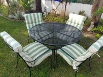 Patio Set - table and 4 chairs with cushions in Oceanside, California