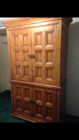Solid wood armoire in Montgomery, Alabama
