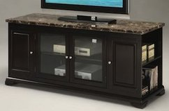 TV Stand, cherry and faux marble top in Spring, Texas