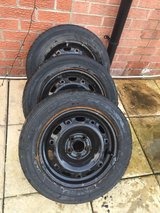 3 x wheels w/ tyres good tread 185/60/r14 in Lakenheath, UK