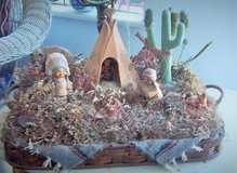 Southwest scene in basket- not a picture-Figurines in Alamogordo, New Mexico